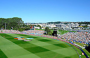 General view of the university oval during the ICC Cricket World Cup match between New Zealand and Scotland at university oval in Dunedin, New Zealand. Photo: Richard Hood/photosport.co.nz
