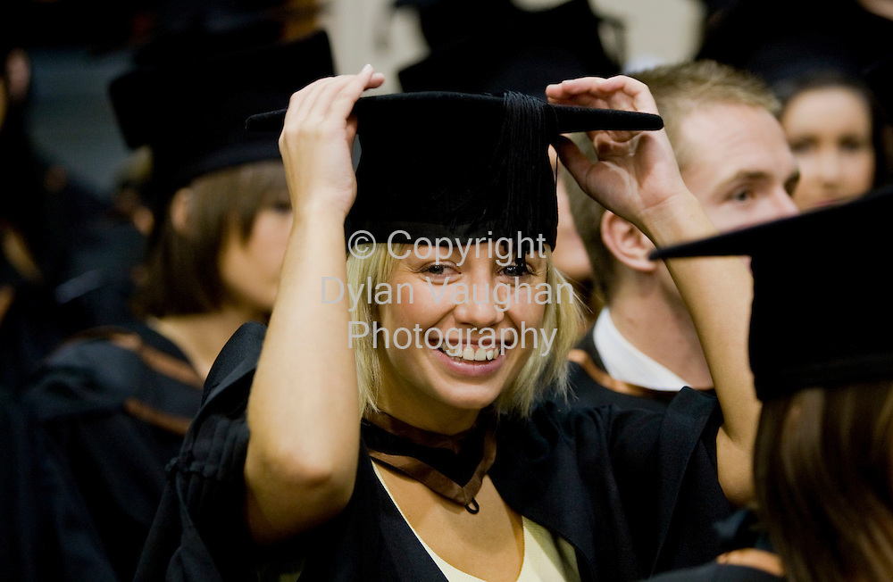 23/10/2008.free picture no charge for use.Pictured at the Conferring of Academic Awards 2008 at Waterford Institute of Technology was Carolyn Rea from Blarney Road in Cork who was conferred with a Bachelor of Arts (Honours) in Exercise and Health Studies..Picture Dylan  Vaughan.