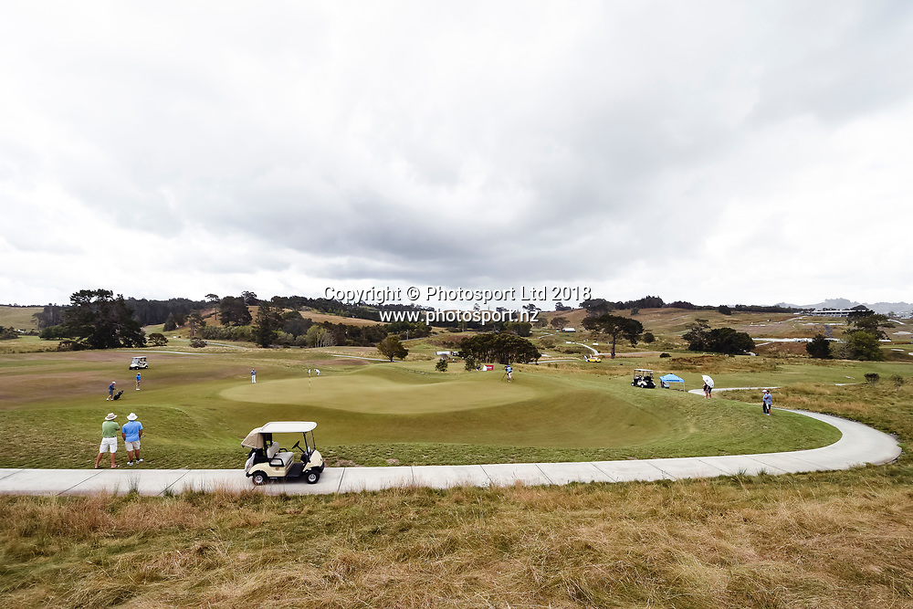Wainui Golf Course general view, 6th hole green.<br /> NZ Rebel Sports Masters, Wainui Golf Club, Wainui, Auckland, New Zealand. 14 January 2018. &copy; Copyright Image: Marc Shannon / www.photosport.nz.