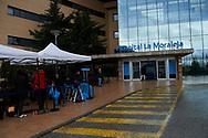 La Moraleja Hospital during the King Juan Carlos of Spain knee surgery on April 7, 2018 in Madrid, Spain