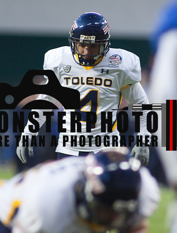 Toledo Rockets Senior Kicker Ryan Casano #4 attempts the extra point in the first quarter of the 2011 Military Bowl Wednesday, Dec. 28, 2011 at RFK Stadium in Washington DC.