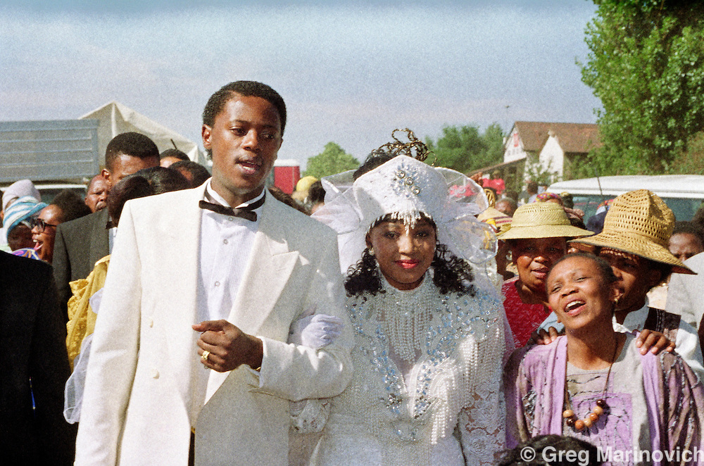 Soweto, Johannesburg, South Africa, 1992. Zinzi Mandela's wedding 24 October 1992, daughter of Winnie and Nelson Mandela,