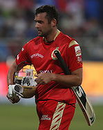Dillon du Preez walks back to the pavilion after his dismissal during match 11 of the Airtel CLT20 between The South Australian Redbacks and The Royal Challengers Bangalore held at Kingsmead Stadium in Durban on the 17 September 2010..Photo by: Steve Haag/SPORTZPICS/CLT20.