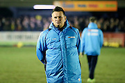 Sutton United manager Paul Doswell looking on during the The FA Cup third round replay match between AFC Wimbledon and Sutton United at the Cherry Red Records Stadium, Kingston, England on 17 January 2017. Photo by Matthew Redman.