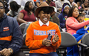 Virginia State University fans were all smiles to see their team playing the finals of the women's bracket.
