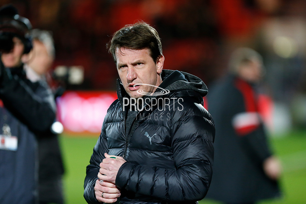 Daniel Stendel of Barnsley F.C. before the EFL Sky Bet League 1 match between Doncaster Rovers and Barnsley at the Keepmoat Stadium, Doncaster, England on 15 March 2019.