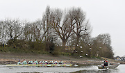 Putney. London,  Great Britain.<br /> <br /> 2016 Tideway Week, Putney. Putney Embankment, Championship Course. Tiver Thames.<br /> <br /> Thursday  24/03/2016 <br /> <br /> [Mandatory Credit; Peter Spurrier/Intersport-images]         CUBC. Bow: Felix Newman, 2: Ali Abbas, 3: Charles Fisher, 4: Clemens Auersperg, 5: Luke Juckett, 6: Henry Hoffstot, 7: Ben Ruble, Stroke: Lance Tredell, Cox: Ian Middleton