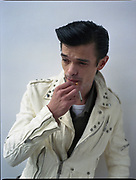 Dan Sartain smoking a cigarette
