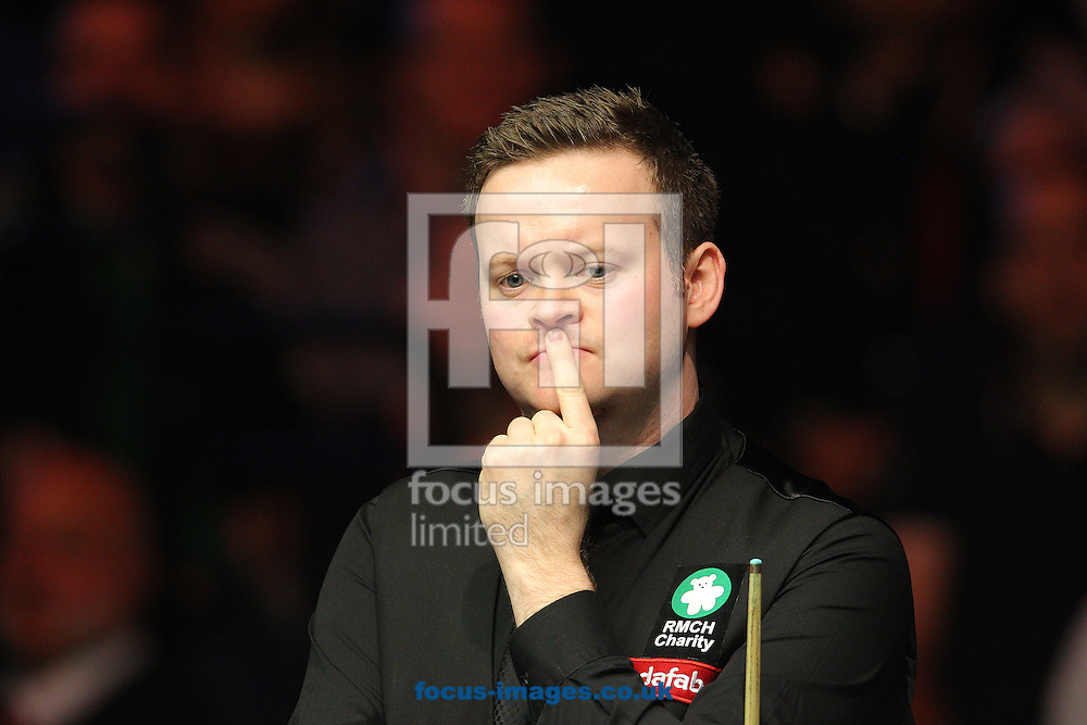 Shaun Murphy looks on during the Dafabet Masters final at Alexandra Palace, London<br /> Picture by Paul Terry/Focus Images Ltd +44 7545 642257<br /> 18/01/2015