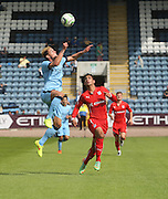 Man City's Matthias Bossaerts and  Dundee trialist Luka Tankulic - Dundee v Manchester City  at Dens Park<br /> <br />  - &copy; David Young - www.davidyoungphoto.co.uk - email: davidyoungphoto@gmail.com
