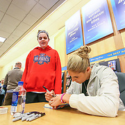 Elena Delle Donne signing her books for Kaleigh Barry (12) Saturday, March 10, 2018, at Barnes and Noble in Wilmington Delaware.