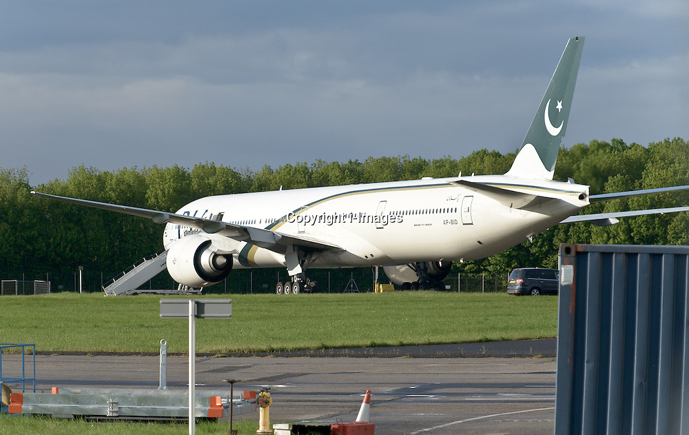 Pakistan International Airlines plane which was escorted into land by RAF Typhoon jets into Stansted Airport, Essex, police arrest two men on suspicion of endangerment of an aircraft. Friday, 24th May 2013.Picture by i-Images