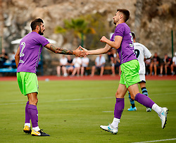 Eros Pisano of Bristol City celebrates with Jens Hegeler  - Mandatory by-line: Matt McNulty/JMP - 22/07/2017 - FOOTBALL - Tenerife Top Training - Costa Adeje, Tenerife - Bristol City v Atletico Union Guimar  - Pre-Season Friendly