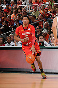 January 13, 2013: Nick Faust #5 of Maryland in action during the NCAA basketball game between the Miami Hurricanes and Maryland Terrapins at the BankUnited Center in Coral Gables, FL. The Hurricanes defeated the Terrapins 54-47.