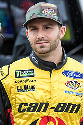 October 5, 2018 - Dover, DE, U.S. - DOVER, DE - OCTOBER 05: Matt DiBenedetto driver of the #32 Can-Am/Wholey Ford on the grid, waiting out a rain delay for qualifying for the Monster Energy NASCAR Cup Series Gander Outdoors 400 on October 05, 2018, at Dover International Speedway in Dover, DE. Qualifying was canceled after approximately a 40 minute delay. (Photo by David Hahn/Icon Sportswire) (Credit Image: © David Hahn/Icon SMI via ZUMA Press)