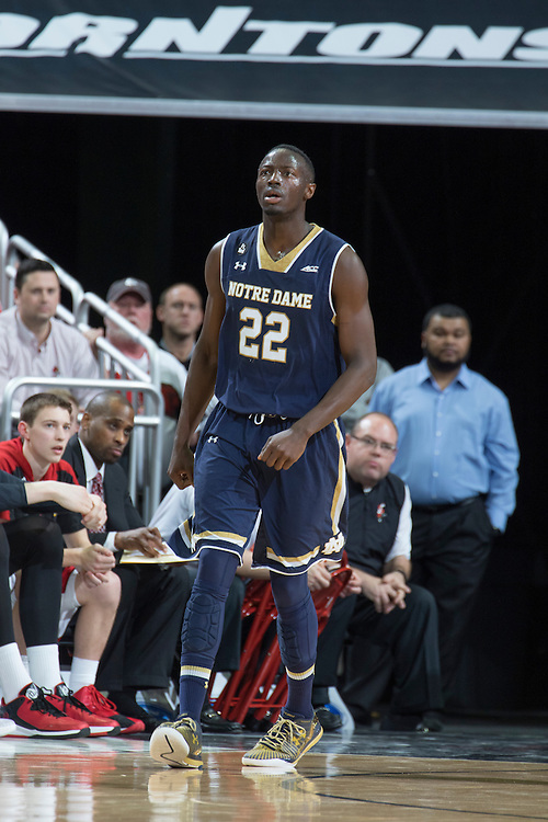 Notre Dame guard Jerian Grant. <br /> <br /> The University of Louisville hosted the Notre Dame, Wednesday, March 04, 2015 at Yum Center in Louisville. <br /> <br /> Photo by Jonathan Palmer