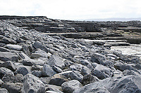 Limestone rock on Inis Oirr Island the Aran Islands County Galway Ireland