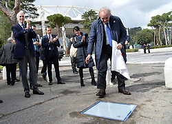 March 12, 2018 - Rome, Italy - The ceremony Walk of Fame in Rome, Italy, on 12 March 2018. The Walk of Fame is enriched with 5 more samples. Along the Via Olimpiadi, which leads straight to the Olympic stadium in Rome, new plates have been added dedicated to five blue champions no longer in business: the historic Milan captain and national defender, soccer player Paolo Maldini, the swimmer Massimiliano Rosolino, the middle distance runner Luigi Beccali, the cyclist Ercole Baldini and the volleyball player Samuele Papi (in picture) (Credit Image: © Silvia Lore/NurPhoto via ZUMA Press)