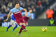 Goal West Ham United midfielder Mark Noble (16) scores from the penalty spot 1-2 during the Premier League match between Leicester City and West Ham United at the King Power Stadium, Leicester, England on 22 January 2020.
