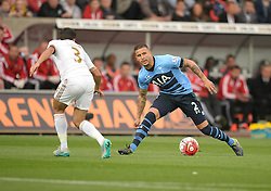 Kyle Walker of Tottenham Hotspur attacks in the swansea half. - Mandatory byline: Alex James/JMP - 07966 386802 - 04/10/2015 - FOOTBALL - Liberty stadium - Swansea, England - Swansea City  v Tottenham hotspur - Barclays Premier League