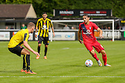 Tom Platt during the Friendly match between Harrogate Town and York City at Wetherby Road, Harrogate, United Kingdom on 25 July 2015. Photo by Simon Davies.