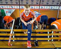 LUCKNOW (India) -  Joep de Mol (NED)  voor de oefenwedstrijd tegen Korea voor de Junior  World Cup hockey men . COPYRIGHT KOEN SUYK