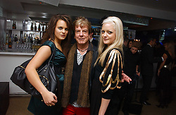 Left to right, MOLLY MILLER MUNDY, NICKY HASLAM and LADY ELOISE ANSON at a party to celebrate the publication of Tatler's Little Black Book 2006 held at 24, 24 Kingley Street, London W1 on 9th November 2006.<br />