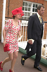 Trainer HENRY CECIL and close friend MISS SARAH McKEOWN,<br />  at Royal Ascot on 21st June 2000.OFP 25<br /> © Desmond O'Neill Features:- 020 8971 9600<br />    10 Victoria Mews, London.  SW18 3PY <br /> www.donfeatures.com   photos@donfeatures.com<br /> MINIMUM REPRODUCTION FEE AS AGREED.<br /> PHOTOGRAPH BY DOMINIC O'NEILL