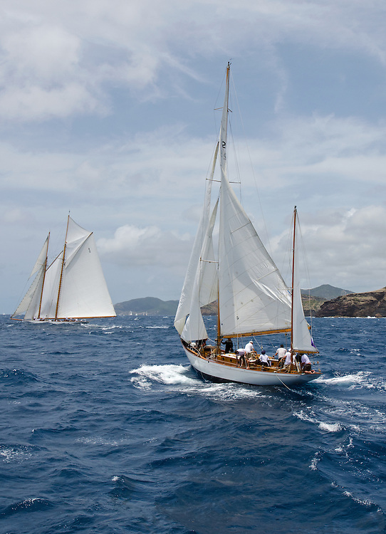 """ARGYLL.<br /> <br /> Back in the 60s, classic yachts, which were gathered in English Harbour Antigua, had begun chartering and the captains and crews challenged each other to a race down to Guadeloupe and back to celebrate the end of the charter season. From this informal race, Antigua Race Week was formalised in 1967, and in those days all of the yachts were classics. As the years grew on, the classic yachts were slowly outnumbered but the faster sleeker modern racing yachts and 24 years later the Classic Class had diminished to a few boats and was abandoned in 1987. However this same year seven classic yachts turned out and were placed in Cruising Class 3 with the bare boats. The class was so unmatched that it was downright dangerous, so Captain Uli Pruesse hosted a meeting onboard Aschanti of Saba with several classic skippers and in 1988 the Antigua Classic Yacht Regatta was born, with seven boats.<br /> <br /> In 1991, Elizabeth Meyer brought her newly refitted Endeavour and Baron Edmond Rothschild brought his 6-meter Spirit of St Kitts and """"CSR"""" became the first Sponsor and inaugurated the Concours d'Elégance. In 1996 we created the """"Spirit of Tradition Class"""", which has now been accepted all over the world, which gives the """"new"""" classics, built along the lines of the old, a chance to sail alongside their sister ships. In 1999 we celebrated the first race between the J class yachts in 60 years. Mount Gay Rum has sponsored the Regatta for many years, and we have recently added Officine Panerai as our first ever Platinum Sponsor.<br /> <br /> The Antigua Classic Yacht Regatta has maintained a steady growth, hosting between 50 and 60 yachts every year and enjoys a wonderful variety of competitors, including traditional craft from the islands, classic ketches, sloops, schooners and yawls making the bulk of the fleet, together with the stunningly beautiful Spirit of Tradition yachts, J Class yachts and Tall Ships."""