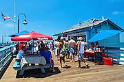Tourists On The San Clemente Pier