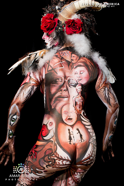 Living Art America::The Bodies Works of Art::The North American Body Painting Championship | A World Body-painting Association Sanctioned Event <br /> <br /> Artist: Tiffany Beckler, <br /> Model:&nbsp;Sara Bloo,<br /> Photographer: Amar Reddy<br /> <br /> www.livingartamerica.com<br /> www.AmarPhotography.com