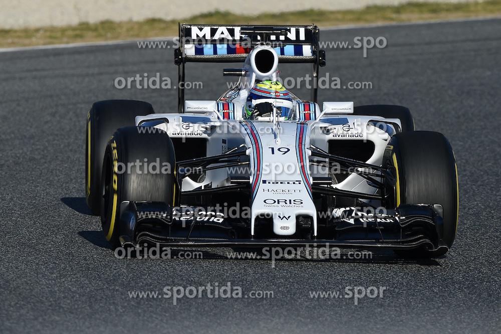 28.02.2015, Circuit de Catalunya, Barcelona, ESP, FIA, Formel 1, Testfahrten, Barcelona, Tag 3, im Bild Felipe Massa (BRA) Williams FW37 // during the Formula One Testdrives, day three at the Circuit de Catalunya in Barcelona, Spain on 2015/02/28. EXPA Pictures &copy; 2015, PhotoCredit: EXPA/ Sutton Images/ Patrik Lundin Images<br /> <br /> *****ATTENTION - for AUT, SLO, CRO, SRB, BIH, MAZ only*****