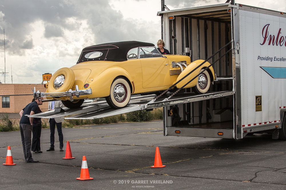 Time to unload the 1937 Cord 812.