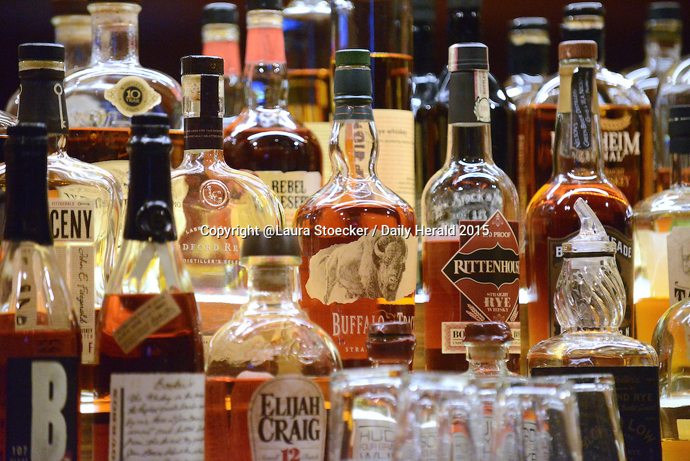 Laura Stoecker/lstoecker@dailyherald.com<br /> Grumpy Goat Tavern in Elgin has a wide selection of whiskeys and bourbons.