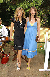 Left to right, JADE JAGGER and LIZ HURLEY at the Macmillan Cancer Support Dog Day held in the gardens of the Royal Hospital, Chelsea, London on 4th July 2006.<br /><br />NON EXCLUSIVE - WORLD RIGHTS