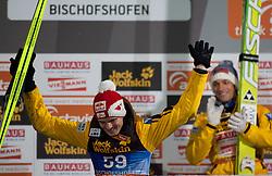 06.01.2012, Paul Ausserleitner Schanze, Bischofshofen, AUT, 60. Vierschanzentournee, FIS Ski Sprung Weltcup, Podium, im Bild Gesamtwertung der vierschanzentournee Thomas Morgenstern (AUT, Rang 2) // over all Podium second place Thomas Morgenstern of Austria  on Podium during 60th Four-Hills-Tournament FIS World Cup Ski Jumping at Paul Ausserleitner Schanze, Bischofshofen, Austria on 2012/01/06. EXPA Pictures © 2012, PhotoCredit: EXPA/ Johann Groder