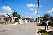 Street in Manuel Lazo, Pinar del Rio, Cuba.