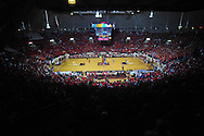"""Fans wear red t-shirts at the Ole Miss vs. Kentucky basketball game at the C.M. """"Tad"""" Smith Coliseum in Oxford, Miss. on Tuesday, February 1, 2011. Ole Miss won 71-69."""