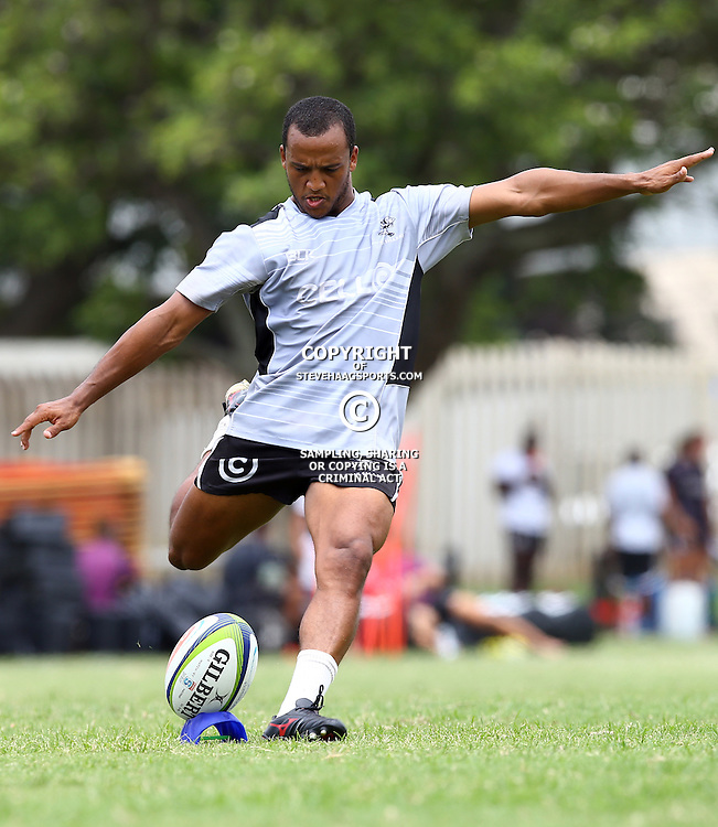 DURBAN, SOUTH AFRICA - JANUARY 20: Rhyno Smith during the Cell C Sharks training session at Growthpoint Kings Park on January 20, 2017 in Durban, South Africa. (Photo by Steve Haag/Gallo Images)