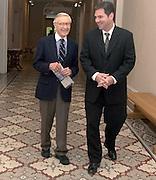 15523Vern Alden visiting Kennedy Museum with Jim Wyman photos by Krisanne Johnson