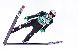 13.01.2019, Stadio del Salto, Predazzo, ITA, FIS Weltcup Nordische Kombination, Skisprung, im Bild Taylor Fletcher (USA) // Taylor Fletcher of the USA during Skijumping Competition of FIS Nordic Combined World Cup at the Stadio del Salto in Predazzo, Italy on 2019/01/13. EXPA Pictures © 2019, PhotoCredit: EXPA/ JFK