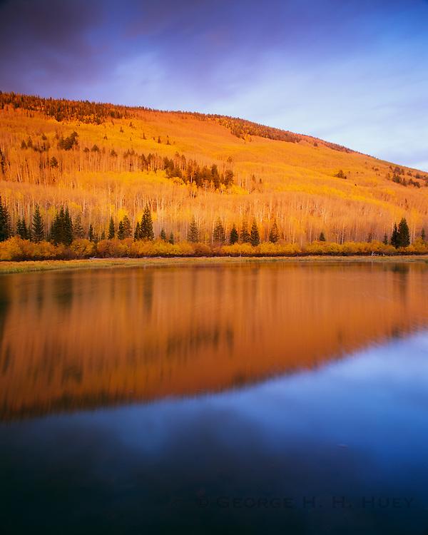 0340-1021 ~ Copyright:  George H. H. Huey ~ Warner Lake,  La Sal Mountains.  Manti La Sal National Forest, Utah.