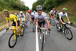 July 29, 2018 - Paris Champs-Elysees, France - PARIS CHAMPS-ELYSEES, FRANCE - JULY 29 : THOMAS Geraint (GBR) of Team SKY, IMPEY Daryl of Mitchelton-Scott JANSE VAN RENSBURG Reinardt of Team Dimension Data  during stage 21 of the 105th edition of the 2018 Tour de France cycling race, a stage of 116 kms between Houilles and Paris Champs-Elysees on July 29, 2018 in Paris Champs-Elysees, France, 29/07/18  (Credit Image: © Panoramic via ZUMA Press)