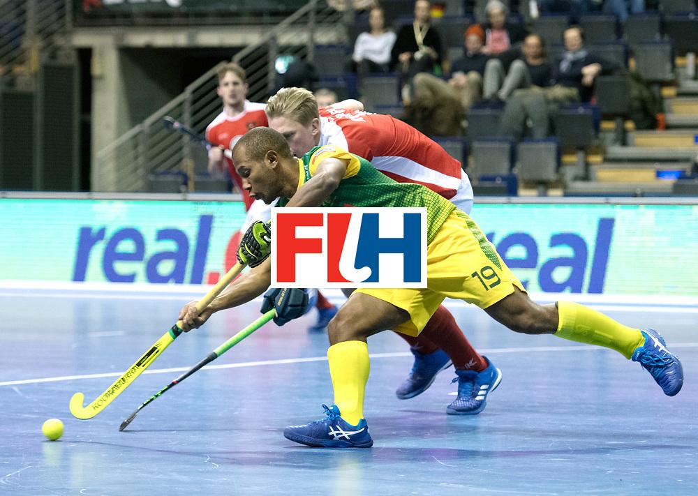 BERLIN - Indoor Hockey World Cup<br /> Austria - South Africa<br /> foto: JONES Robin<br /> WORLDSPORTPICS COPYRIGHT FRANK UIJLENBROEK