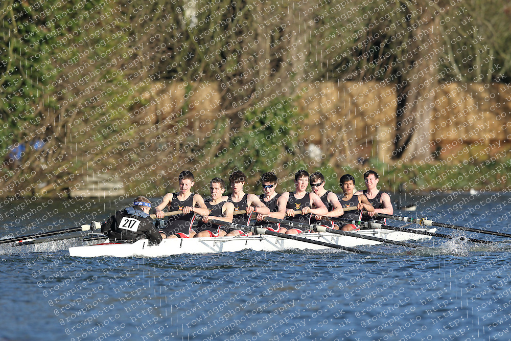 2012.02.25 Reading University Head 2012. The River Thames. Division 2. London Oratory School Boat Club Nov 8+