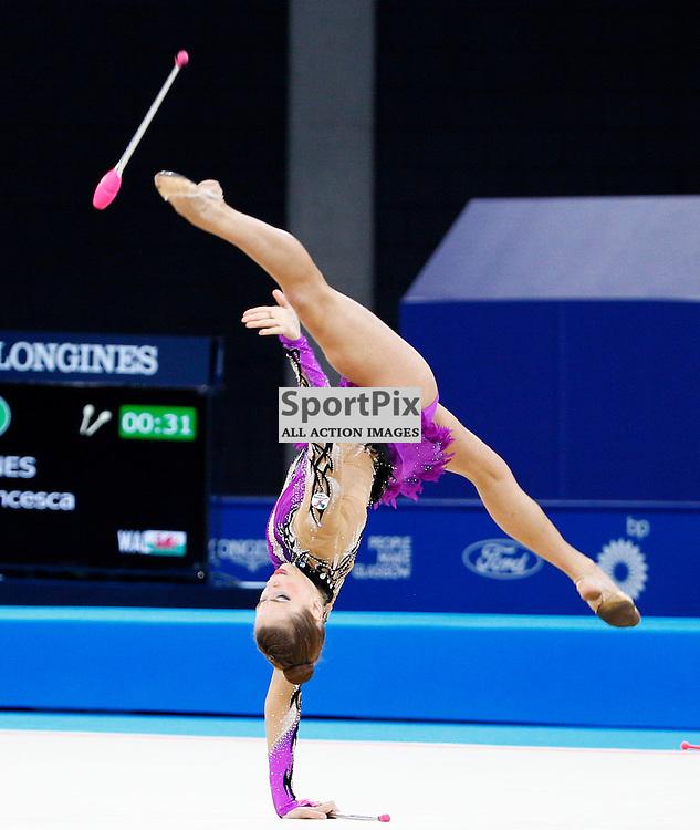 COMMONWEALTH GAMES - GLASGOW....Francesca Jones (WAL) winner of the silver medal in the rotation 3 rhythmic gymnastics ...(c) STEPHEN LAWSON | SportPix.org.uk