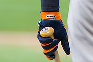 A close up view of the batting glove of Miguel Cabrera #24 of the Detroit Tigers during a game against the Minnesota Twins on September 29, 2012 at Target Field in Minneapolis, Minnesota.  The Tigers defeated the Twins 6 to 4.  Photo: Ben Krause