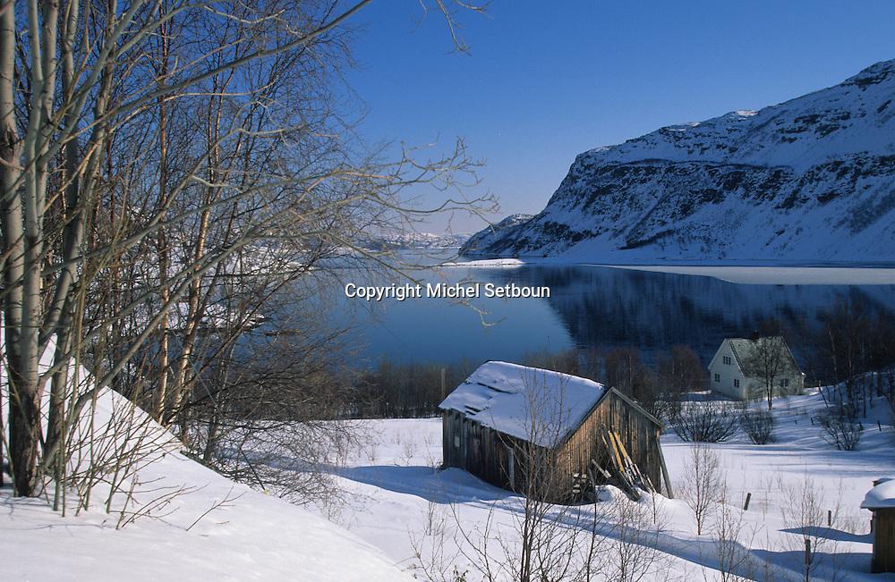 Langfjorden   Lapland  Norway        Langfjorden;   Laponie,   Norvege       L004785  /  R00330  /  P111342