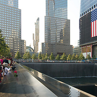 Photography of the World Trade Center Memorial on September 12, 2011