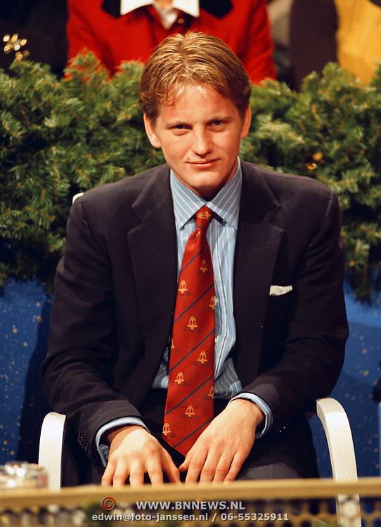 Opname Kerstkado, prins Pieter - Christiaan